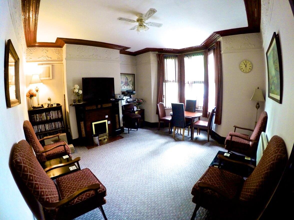 Lounge in Derwent Villa of Swinburne Housing