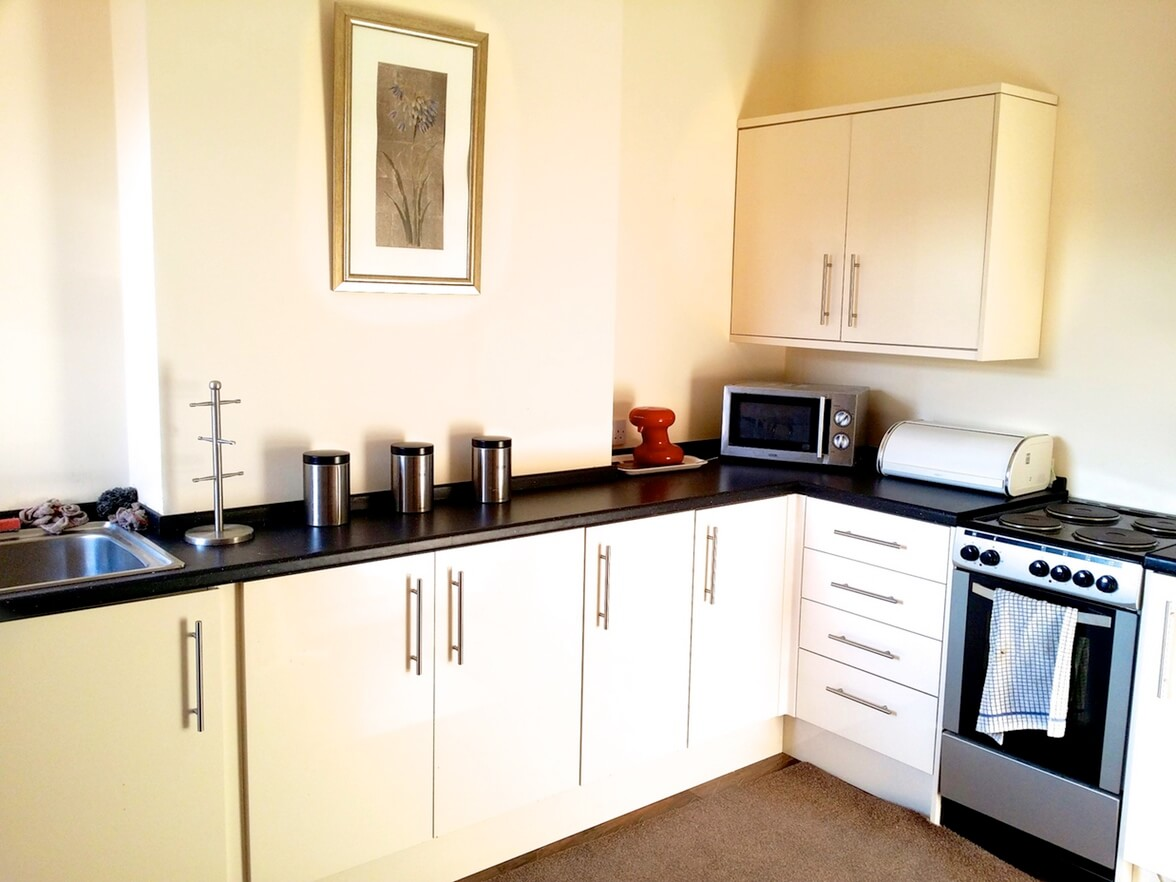 Kitchen at one of our Residential Mental Health Care units in Derby and Derbyshire