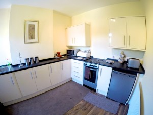 Brand new Kitchen in our Page House Mental Health Care Accommodation