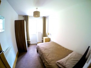Bedroom at our Wade House Mental Health Care Service in Derby